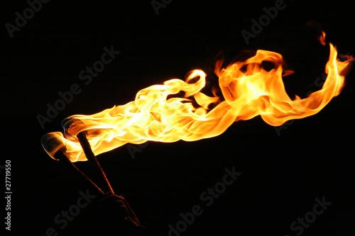 burning torch - 27719550