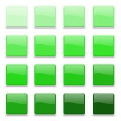 16 Vektor Buttons grün