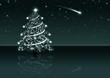 Abstrakter Weihnachsbaum - kristallklarer Nachthimmel