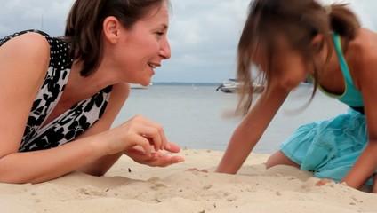 fou rire sur la plage