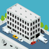 Administrative Headquarters 3D Vector