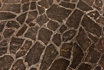 harmonic pattern of slate tiles