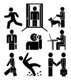 People at work - pictograms poster