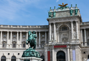 Monument at the Heldenplatz within the Hofburg in Vienna