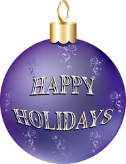Shiny Purple Gold Ornament
