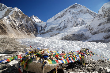 Everest Basecamp and khumbu ice fall