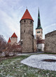 Four towers of town wall of Tallinn
