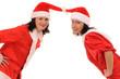 two women santa