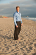 attractive business man on beach