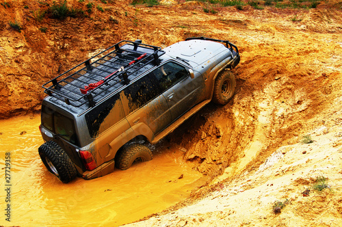 Fotobehang Water Motorsp. Off roading thrill