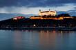 Detaily fotografie Bratislavský hrad za soumraku