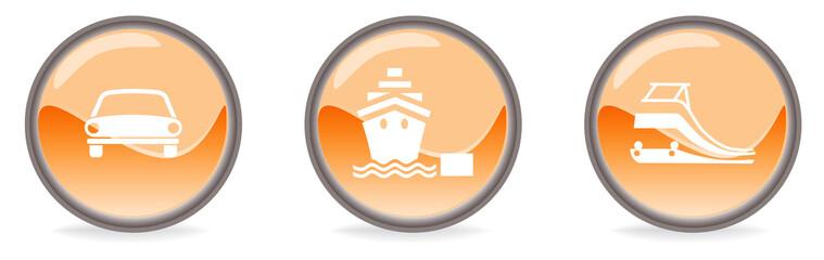 Simboli arancioni Mezzi di trasporto