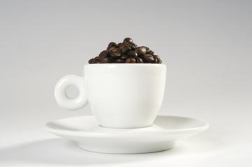 caffè e tazza orizzontale