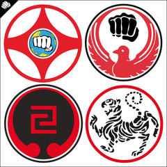 SIMBOL, LOGO Karate kyokushin,wado ryu,goju ryu,shotokan