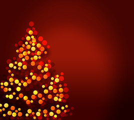 stylized Christmas tree illustration
