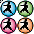 MARTIAL ARTS SIMBOL, LOGO SET.Vector