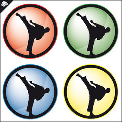 MARTIAL ARTS SIMBOL,LOGO.Vector