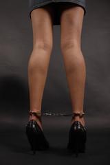Gefesselte Beine Bondage