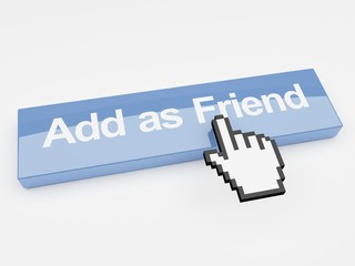 Add as friend social network button