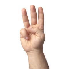 mano tre dita