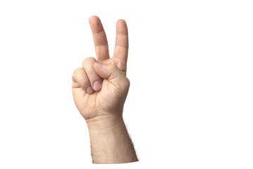 mano due dita
