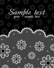 Lace postcard (black & white #2)