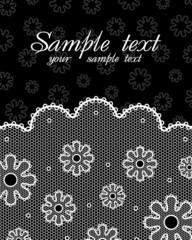 Lace postcard (black & white #2)