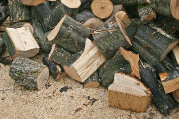 A background of wood stock
