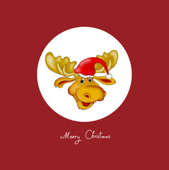 """Weihnachtskarte """"Elch mit Mütze"""""""