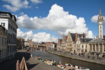 Vista del canal de Gante