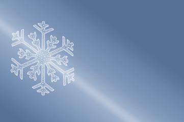 Eiskristall 3D als Symbol für Kälte, Kühlung und Winter