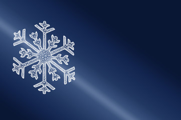 Eiskristall 3D als Symbol für Kälte, Kühlung oder Winter