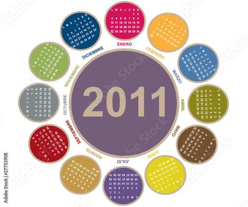 calendario 2011 brasil. Calendario 2011 con forma de