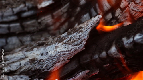 Fire burning in the fireplace (Full HD)