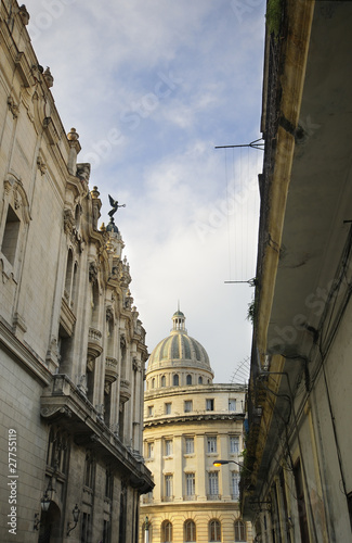View of Havana Capitolio and typical architecture