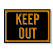 panneau keep out