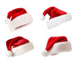 Santa hats isolated on white - 27758172