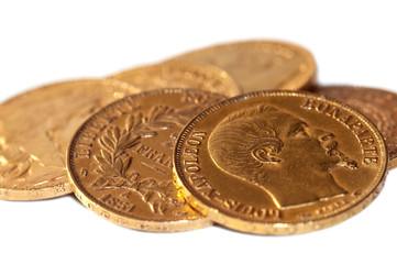 Plusieurs pièces napoléon or