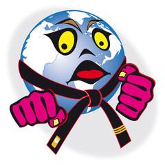 martial arts world cup, tournament. humor original sign, symbol