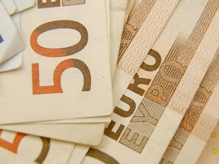 Euro currency banknotes