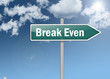 "Signpost ""Break Even"""