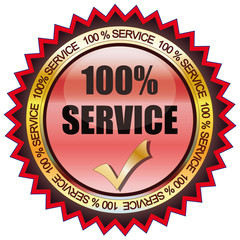 100% Service - Button rot