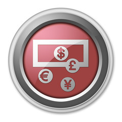 "Red 3D Style Button ""Currency Exchange"""