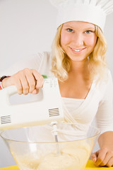 girl with mixer