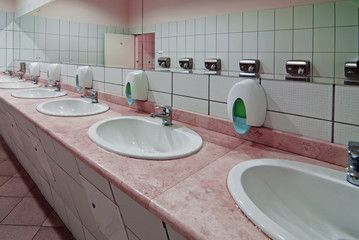 sinks in a public toilet