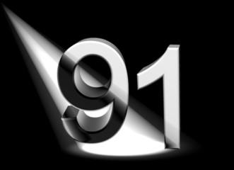 number in spotlight