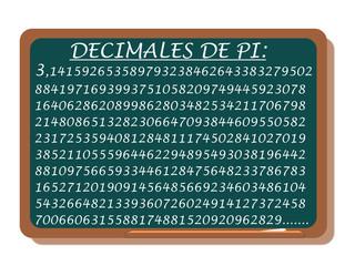 DECIMALES DE PI