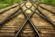 Leinwanddruck Bild - railway (HDR image)