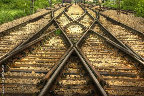 Leinwandbild Motiv railway (HDR image)