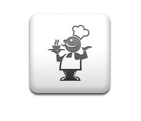 Boton cuadrado blanco cocinero